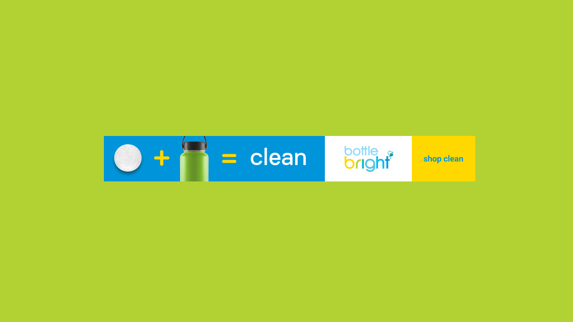 Bottle Bright Banner Ad
